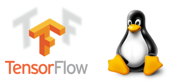 TensorFlow and Linux logos